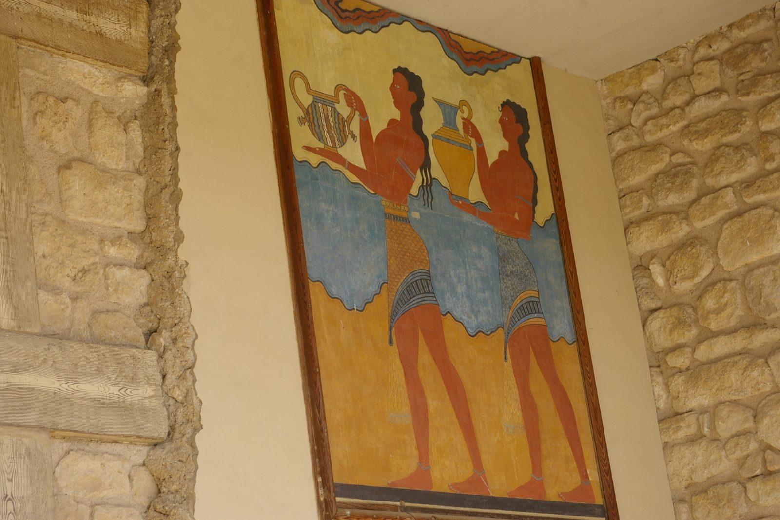Кносский дворец на острове Крите рисунки