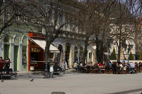 Кафе в городе Нови Сад